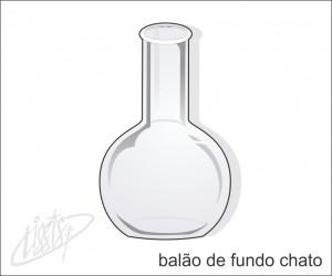 vidrarias de laboratório - balão fundo chato