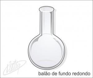 vidrarias de laboratório - balão fundo redondo
