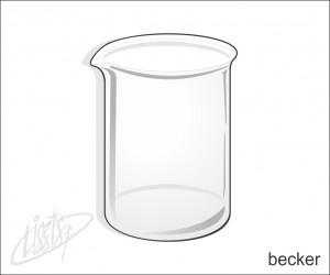 vidrarias de laboratório - becker