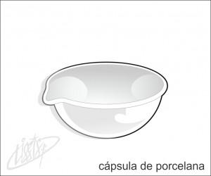 vidrarias de laboratório - cápsula de porcelana