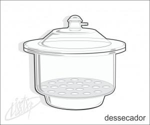 vidrarias de laboratório - dessecador