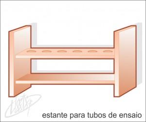 vidrarias de laboratório - estante para tubo de ensaio