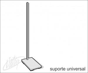 vidrarias de laboratório - suporte universal